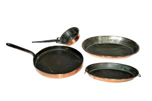 A copper frying pan