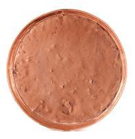 A large copper circular dish