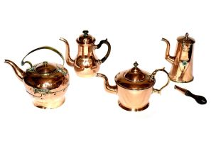 Two copper coffee pots