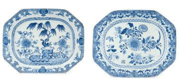 A Chinese blue and white dish, Qianlong, 18th century