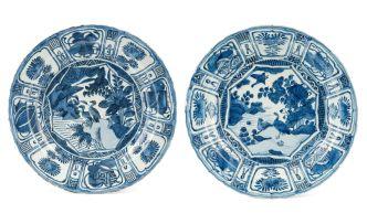 A Japanese Arita blue and white dish, l18th century