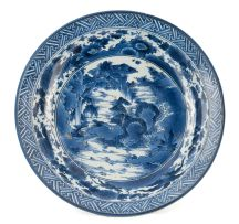 A Japanese Arita blue and white dish, late 18th/early 19th century