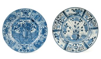 A Japanese Arita blue and white dish, late 17th century