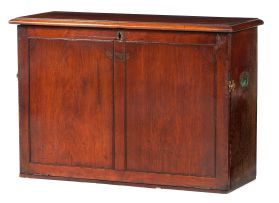 A mahogany travelling writing cabinet, 19th century