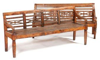 An Indionesian teak bench