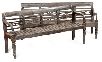 An Indonesian teak bench