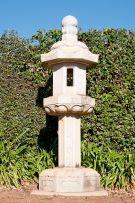 A Japanese carved stone lantern