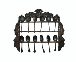 A Dutch oak spoon rack, late 17th century