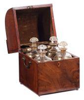 A mahogany decanter box, 19th century