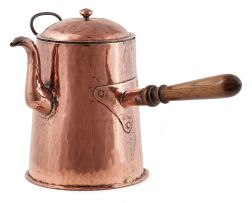 A large copper tavern coffee pot, late 18th century