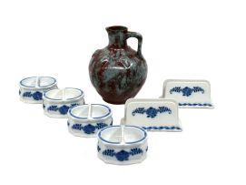 A Delft stoneware pitcher, 20th century
