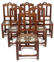 A set of six Cape teak Tulbagh style dining chairs, modern