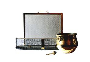 A brass bucket