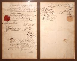 A Dutch Land Tenure document issued by the VOC, dated 9 August 1732