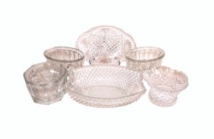 A miscellaneous group of glass wares