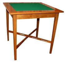 Two fruitwood card tables, modern