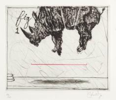 William Kentridge; Three Rhinos: Fig 1. Crowd Pleaser