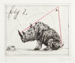 William Kentridge; Three Rhinos: Fig. 2 Dunce