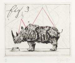 William Kentridge; Three Rhinos: Fig. 3