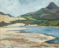 Florence Zerffi; Landscape with Mountain and Vlei