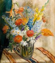 Emily Isabel Fern; Still Life with Spring Flowers