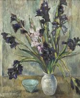 Terence McCaw; Still Life with Gladioli