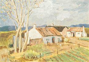 Nerine Desmond; Landscape with Cottages