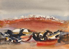 Cecil Skotnes; A Rocky Landscape