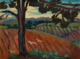 Maggie Laubser; Ploughed Fields