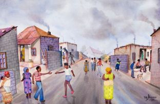 David Mogano; A Busy Street