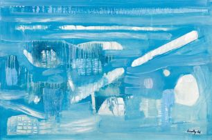 Larry Scully; Blue Abstract