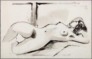 Maurice van Essche; Reclining Nude