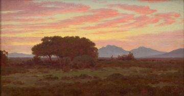 Jan Ernst Abraham Volschenk; Melkhout Trees (Evening) (R'dale)