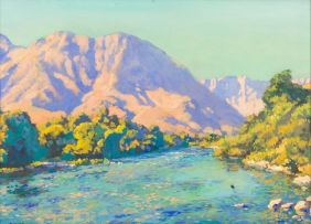 Edward Roworth; River Amidst Hills