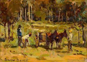 Adriaan Boshoff; Donkey Cart with Figures