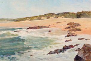 Errol Boyley; Beach Scene, Dunes Beyond