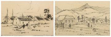 Piet van Heerden; Farm Landscapes, a pair