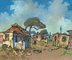 Conrad Theys; Township Scene - Western Cape