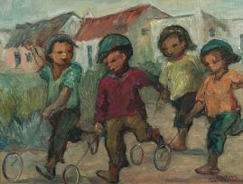 Amos Langdown; Children Playing