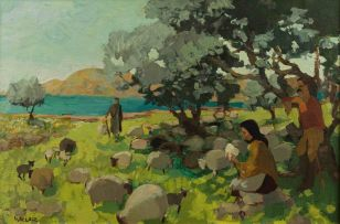Marjorie Wallace; Tending Sheep, Crete