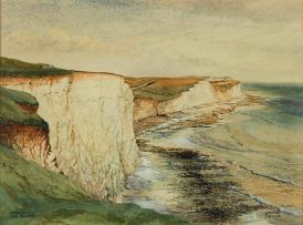 William Timlin; Chalk Cliffs Near Brighton