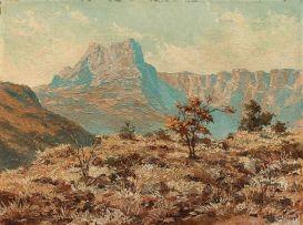 Otto Klar; Mountainous Landscape