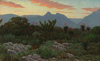 Jan Ernst Abraham Volschenk; Mozambiquerskop Evening, Riversdale