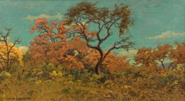 Erich Mayer; Landscape with Trees