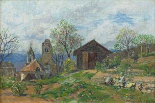 Max Suppantschitsch; Landscape, Dürnstein