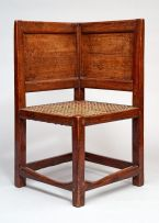A Cape teak corner armchair, 18th century