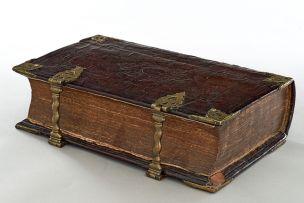 A large Dutch brass-mounted States General Bible, Dordrecht, 1729