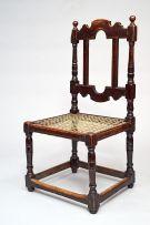 A Cape Baroque ebonised hardwood sidechair, first quarter 18th century