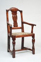 A Cape stinkwood Queen Anne style armchair, first half 18th century
