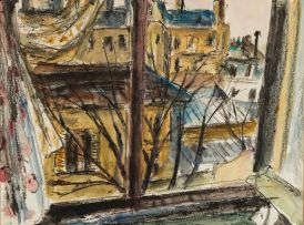 Maud Sumner; View Through a Window, Montparnasse, Paris
